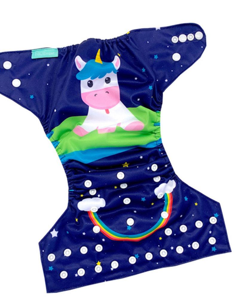 Face de Pet Couche à poche Licorne et étoile (motif exclusif)