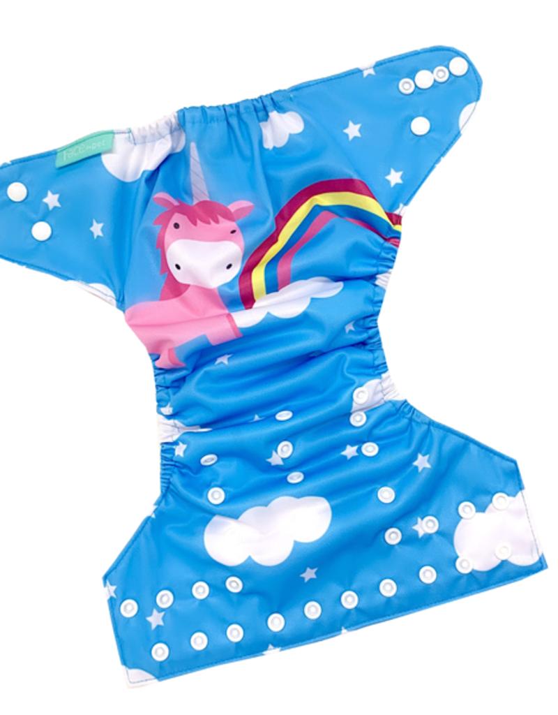 Face de Pet Couche à poche Licorne et nuage (motif exclusif)