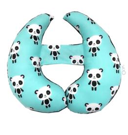 Oops Coussin de tête évolutif Panda Turquoise