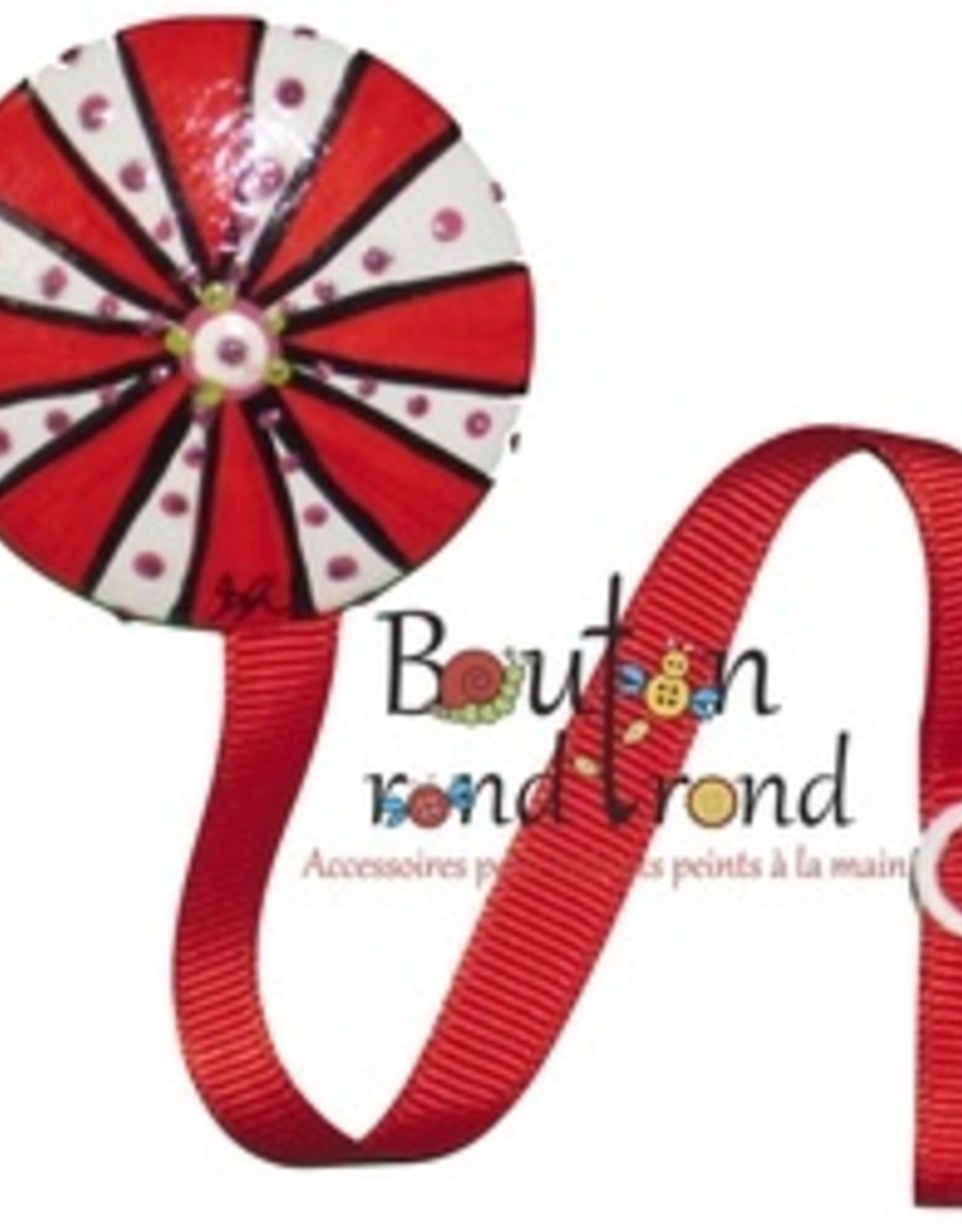 Bouton Rond Rond Attache-suce canne de bonbon