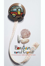 Bouton Rond Rond Attache-suce roulotte fille