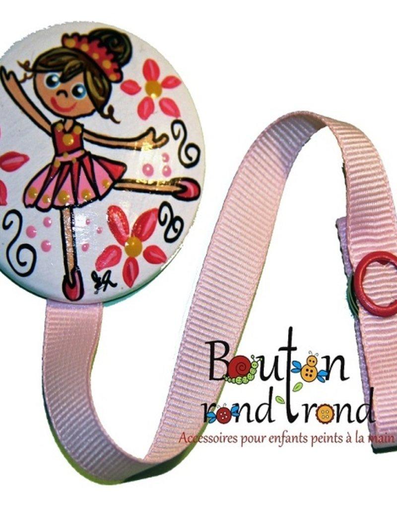 Bouton Rond Rond Attache-suce ballerine