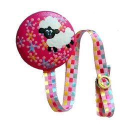 Bouton Rond Rond Attache-suce mouton rose