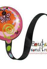 Bouton Rond Rond Attache-suce papillon