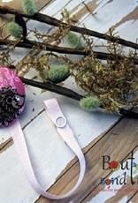 Bouton Rond Rond Attache-suce hérisson rose