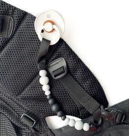 Jululu Bijoux Attache-suce portage Noir et marbre