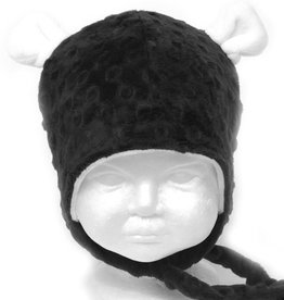 Bébé Ô chaud Tuque à oreilles d'ours noire