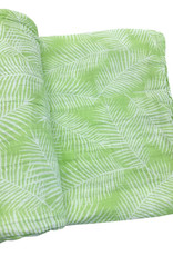 Face de Pet Doudou en mousseline  Feuille blanche fond vert