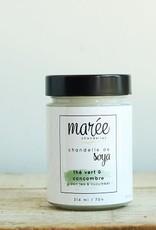 Marée Chandelle Chandelle de soya thé vert et concombre