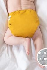 La petite Ourse Couche à poche snap moutarde