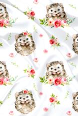 Oops Doudou en minky hérisson et roses