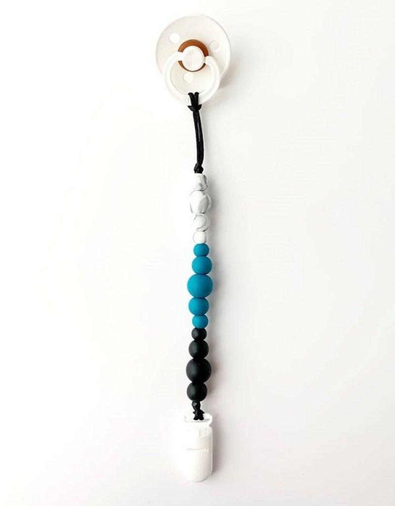Jululu Bijoux Attache-suce minimaliste sarcelle