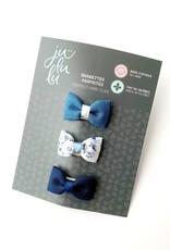 Jululu Bijoux Trio de barrettes fleur bleue