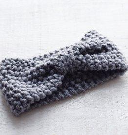 Mini Bretzel Bandeau chaud gris foncé