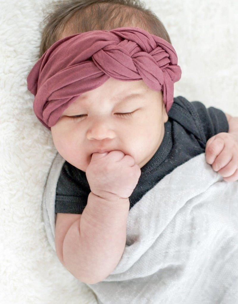 Mini Bretzel Bandeau twinning bébé bourgogne
