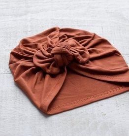 Mini Bretzel Turban premium avec boucle rouille