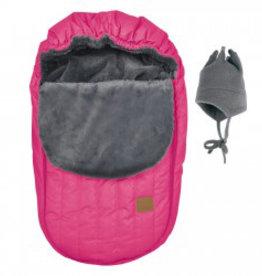 Perlimpinpin Couvre-siège de voiture hiver rose
