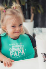 Bedaine love Bavoir de silicone - Marre du lait, j'veux boire comme papa