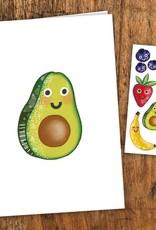 Pico Tatouage Carte de souhait- Les Fruits en Folie