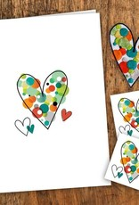 Pico Tatouage Carte de souhait- Coeur et Écusson
