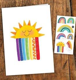 Pico Tatouage Carte de souhait- Les Arcs-en-ciel Colorés