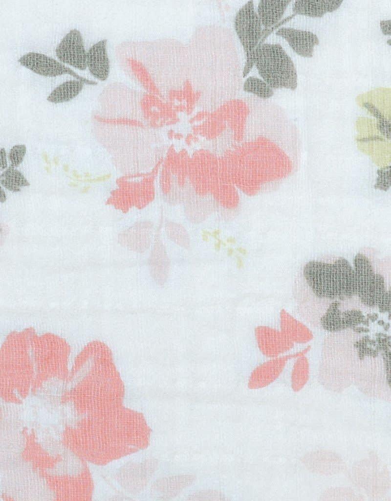 Perlimpinpin Couverture en mousseline coton Fleurs