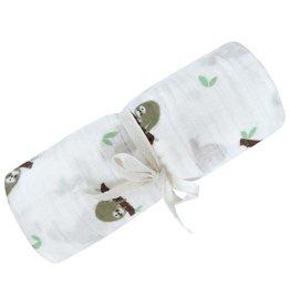 Perlimpinpin Couverture en mousseline coton Paresseux