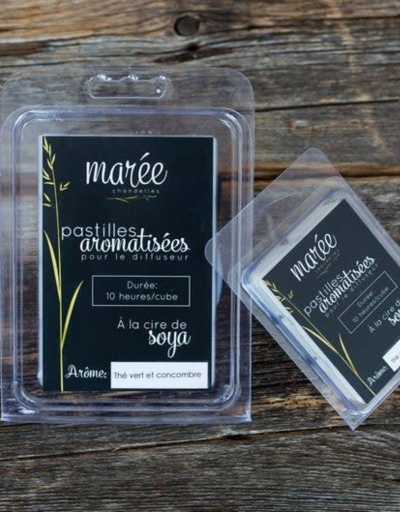Marée Chandelle Pastilles de soya aromatisées pour diffuseur - Thé vert & concombre