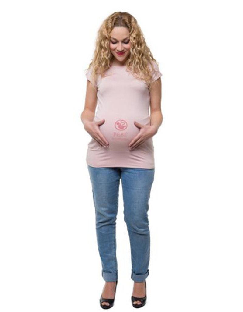 Chandail de maternité Bébé en construction Rose