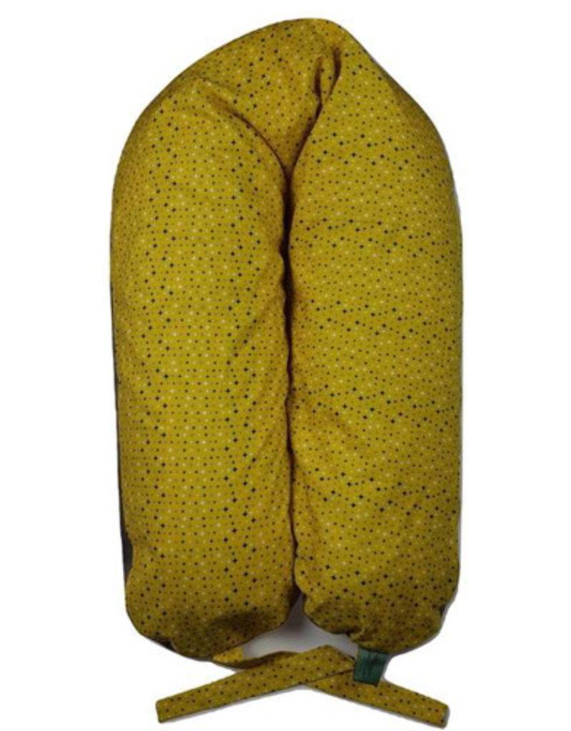 Coussin Etc Coussin d'allaitement Étoiles sur fond jaune