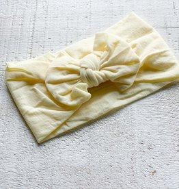 Mini Bretzel Bandeau pivoine jaune doux