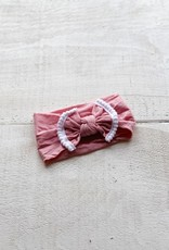 Mini Bretzel Bandeau marguerite rose