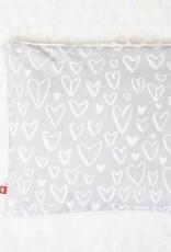 Nneka Oreiller pour enfant en sarrasin - cœur gris
