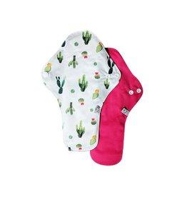 La petite Ourse Serviettes sanitaires de nuit - paquets de 2 cactus+ fushia