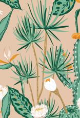 Oops Doudou étiquette en minky Cactus et fleurs