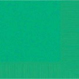 Festive Green 3‑Ply Beverage Napkins, 50ct