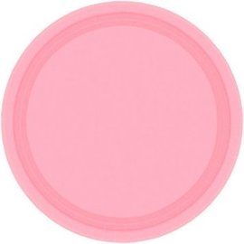 New Pink Paper Plates, 7""