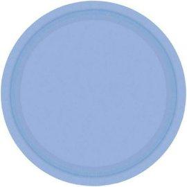 """Pastel Blue Paper Plates, 7"""" 20ct"""