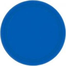 "Bright Royal Blue Paper Plates, 7"" 20ct"