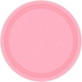 New Pink Paper Plates, 9""