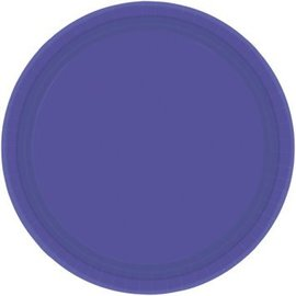 "New Purple Paper Plates, 9"" 20ct"