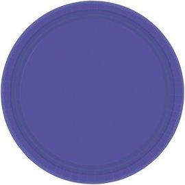 "New Purple Paper Plates, 9"""