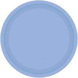 """Pastel Blue Paper Plates, 9"""" 20ct"""