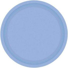 """Pastel Blue Paper Plates, 9"""""""