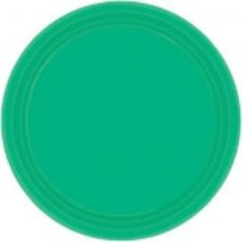 "Festive Green Paper Plates, 9"" 20ct"