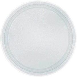 "Silver Paper Plates, 9"" 20ct"