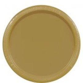 """Gold Paper Plates, 9"""""""