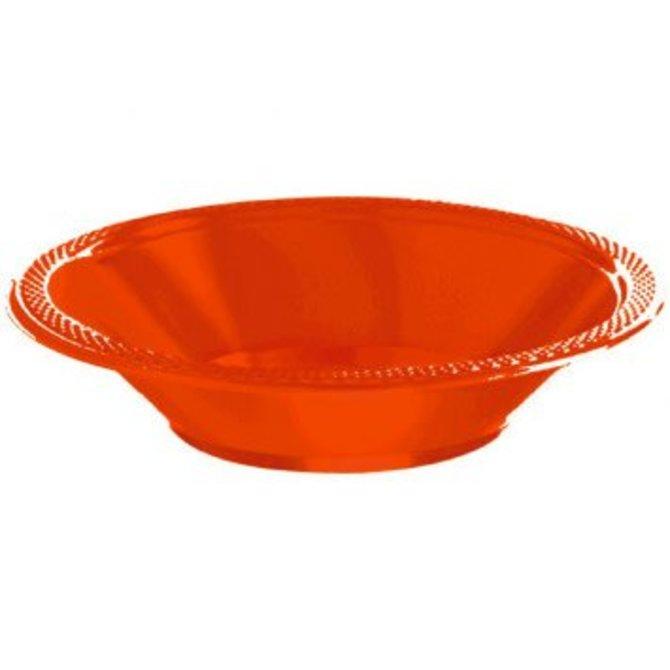 Orange Plastic Bowl 12oz. 20ct