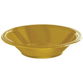 Gold Sparkle Plastic Bowls, 12oz.  20 count