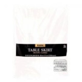 "Table-Skirt 14'x29"" Frosty White"
